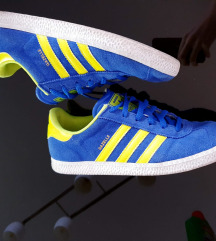 Original Adidas Gazelle royal blue yellow