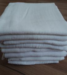 LOT bijele pamucne tetra pelene