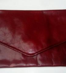 Crvena bordo kožna torbica