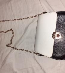Tamnoplava s bijelim torbica