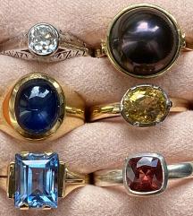 Srebrno i zlatno prstenje