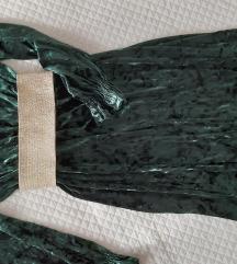 SNIZENA% 250💚,plisana dugačka haljina S/M