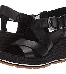 Timberland ženske crne sandale na punu petu *nove