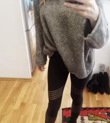 NOVO Zara knit oversized siva vesta