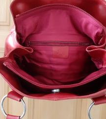 Crvena torba od prave kože