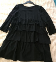 Zara haljina bluza na volane