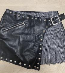 ZARA Kožne kratke hlačice / Šos