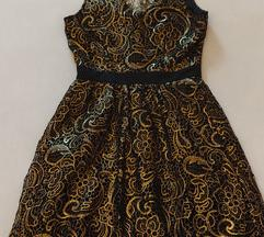Jake*s crno-zlatna haljina, A-kroj,  XS