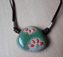 Podesiva kamen ogrlica-ručni rad