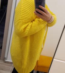 Žuta vesta kardigan