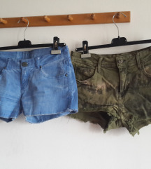 Bershka i Hm denim kratke hlače S/M