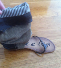 Sandale maslinasto-smeđe