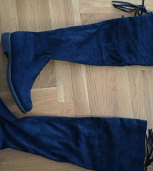 Tamno plave visoke cizme 36