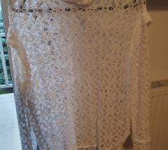 SANDRO dizajnerska bijela bluza