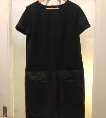 crna haljina kožna