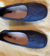 Plave kožne cipele