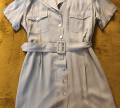Viskozna haljina ledeno sive boje