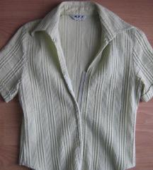 Košulja bijelo zelena veličina S
