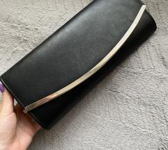 Crna clutch torbica