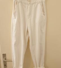 Zara bijele široke hlače visokog struka
