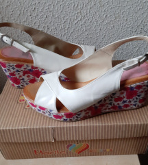 Marila kožne bijele sandale, 38