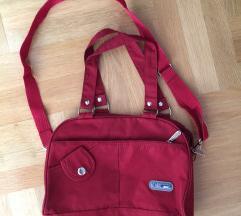 Crvena torba  od ripsa