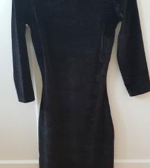 Bershka crna uska haljina vel. XS