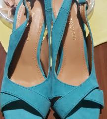 Tirkizno-plave sandale