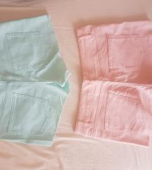 Kratke hlače H&M, Baby pink i Mint