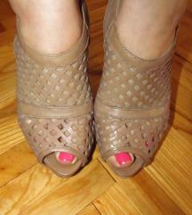 Smeđe sandale, prava koža