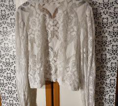 Zara čipkasta bluza, veličina L