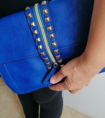 Plava pismo torba sa zakovicama