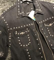 crna duga traper jakna novo