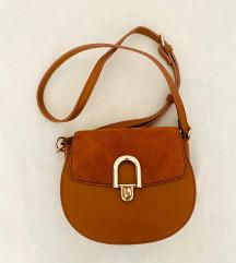 Kožna smeđa torbica - Orsay