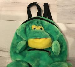 Plišani ruksak žaba