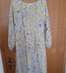 Žuta cvijetna h&m haljina