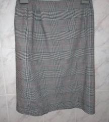 Karirana siva suknja S/M