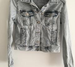 H&M Crop Traper denim jakna vel XS