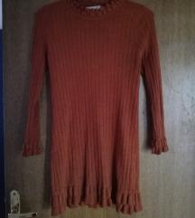 Cinnamon smeđa haljina na volane🍁