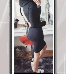 Crna pamučna haljina sa cifom🖤