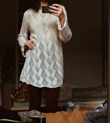 boho vintage zimska haljina, 100% PAMUK