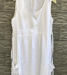 Bijela lanena haljina-XL