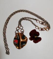Duga modernistička bakar ogrlica