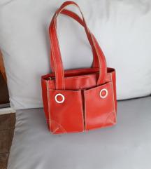KUVE crvena torbica PRAVA KOŽA