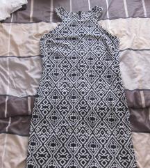 Crno bijela uska haljina