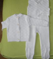 Bijeli pleteni kompletić, uniseks, nenošen