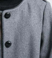 MANGO vuneni sivi kaput 60% wool