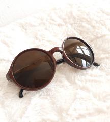 Smeđe okrugle sunčane naočale