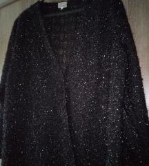Crni sako sa sitnim svjetlucavim nitima