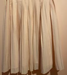 Prljavo roza plisirana suknja